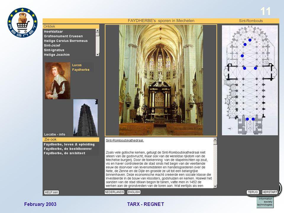 February 2003TARX - REGNET 11