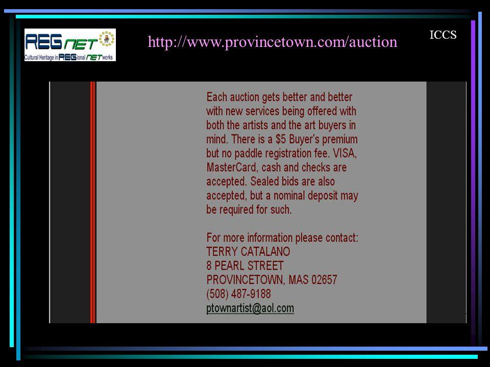 http://www.provincetown.com/auction ICCS