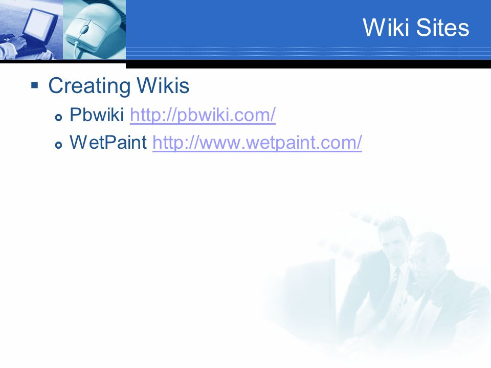 Wiki Sites Creating Wikis Pbwiki   WetPaint
