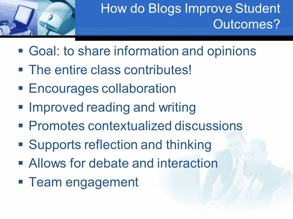 How do Blogs Improve Student Outcomes.