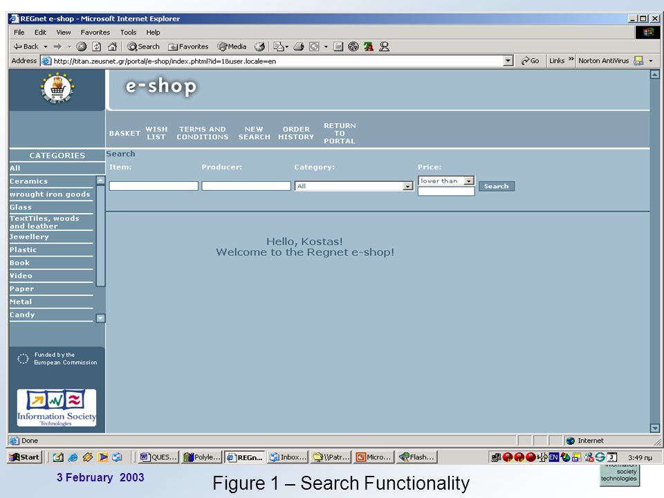 3 February 2003 3 Figure 1 – Search Functionality