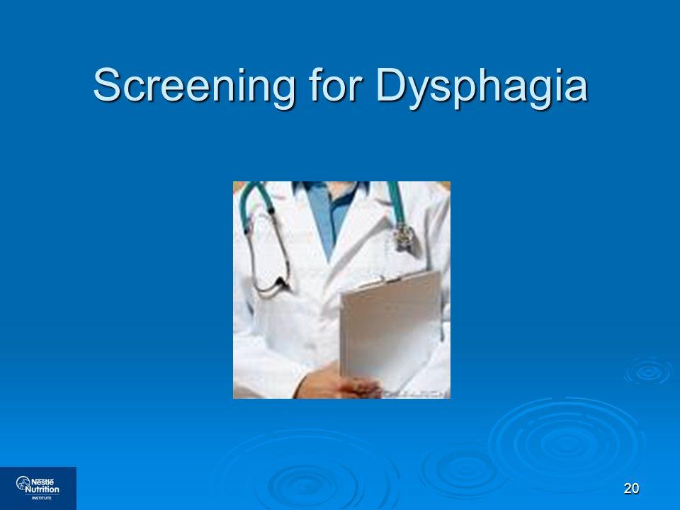 20 Screening for Dysphagia