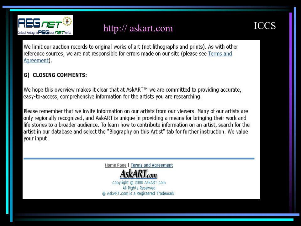 http:// askart.com ICCS