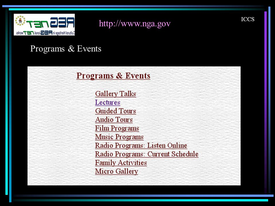 http://www.nga.gov ICCS Programs & Events