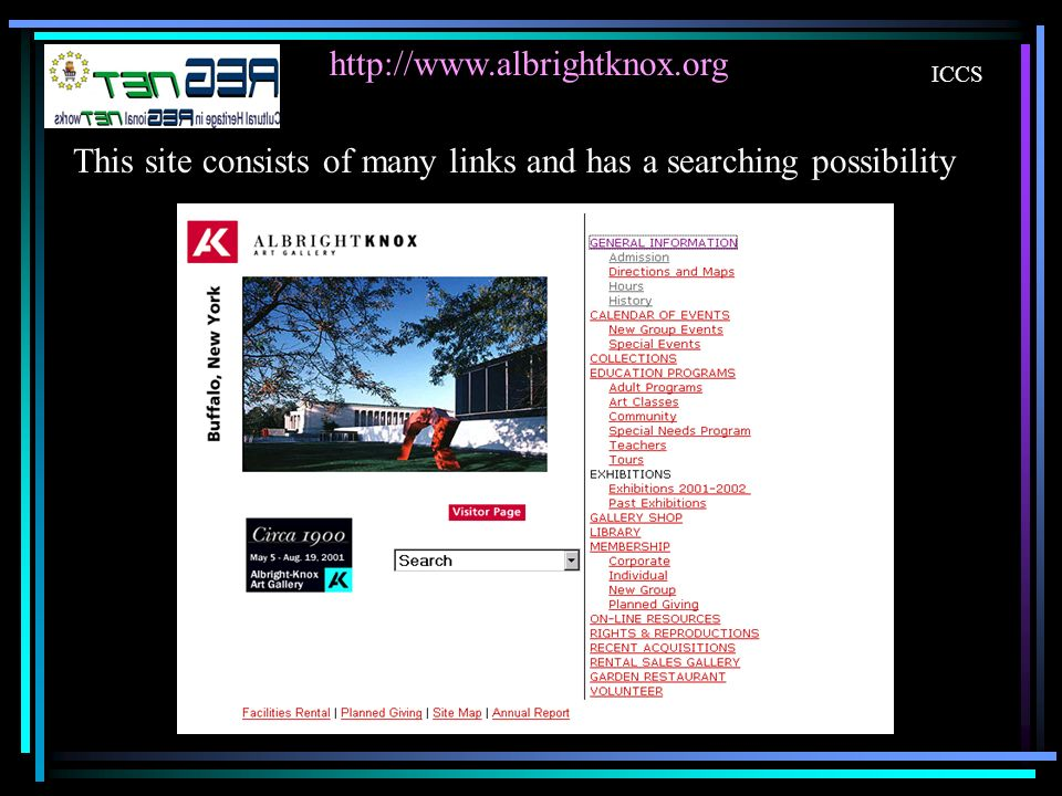 ICCS   This site consists of many links and has a searching possibility