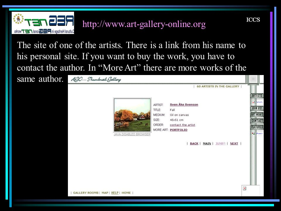 ICCS http://www.art-gallery-online.org The Site Map page.