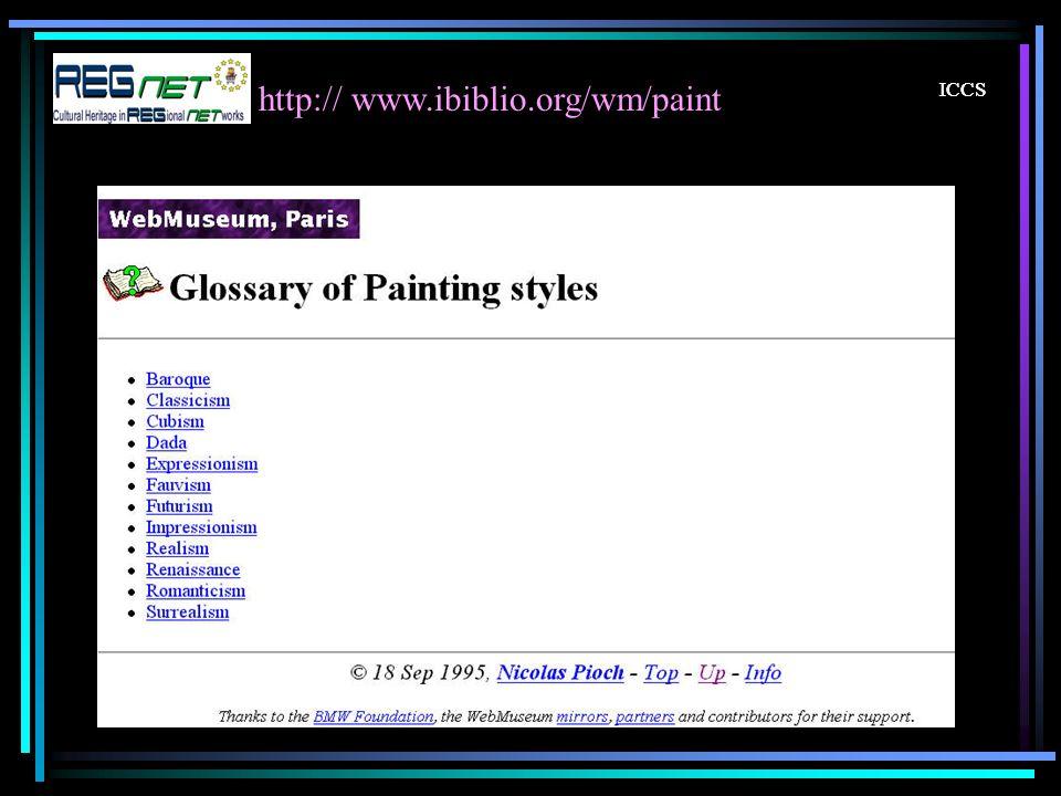 ICCS http:// www.ibiblio.org/wm/paint ICCS