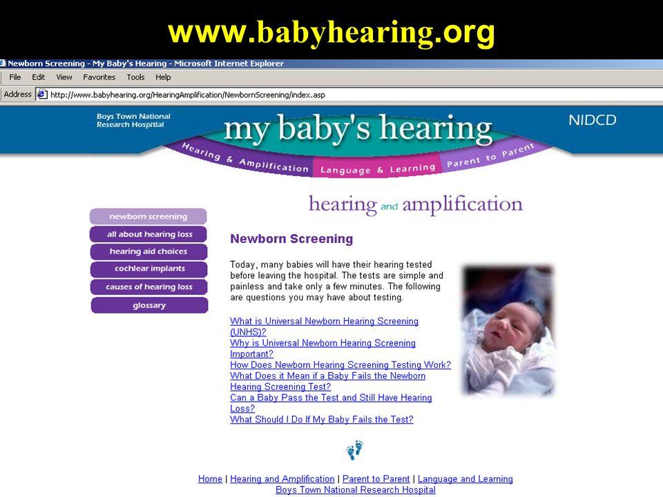 www. babyhearing.org