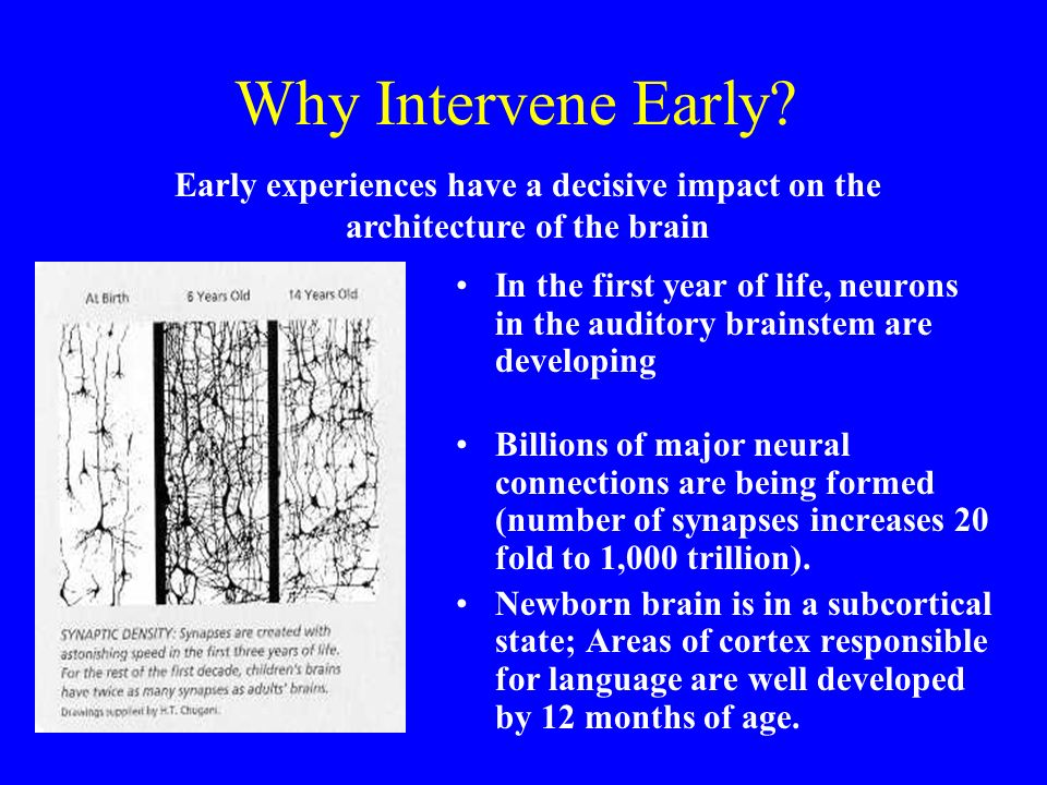 Why Intervene Early.