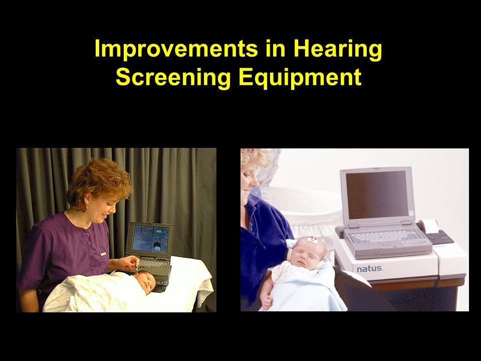 Improvements in Hearing Screening Equipment