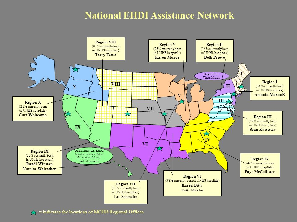 Examples of Network Activities Training of Trainers Workshop Individualized TA with state EHDI programs NEC*TAS Webcast for Part C Programs Regional workshops on Diagnostic ABR