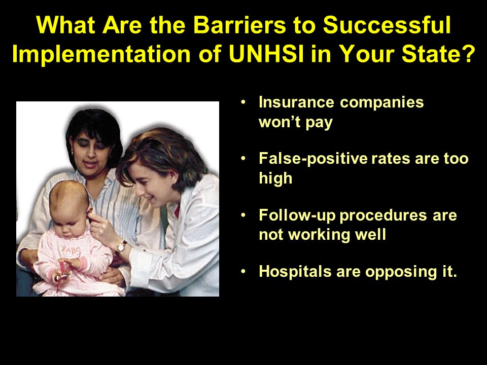 What Are the Barriers to Successful Implementation of UNHSI in Your State.