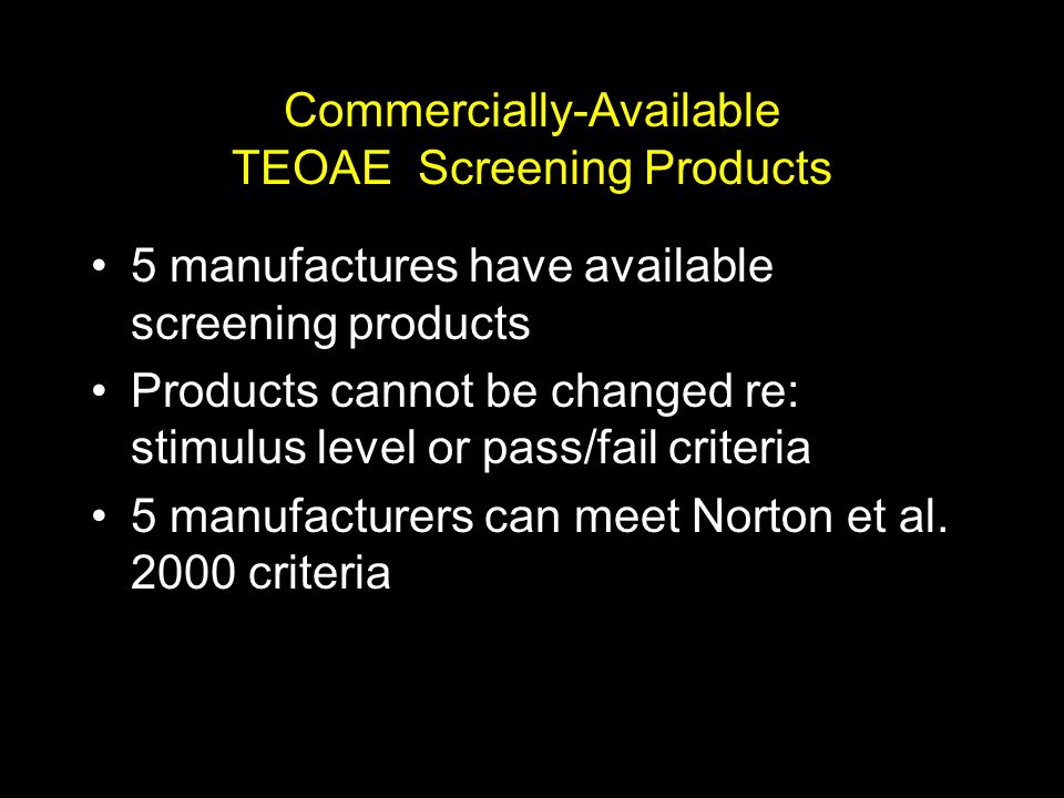 Lacking A National or Agreed-Upon Standard – What Else Should You Look for in Selecting Screening Devices?