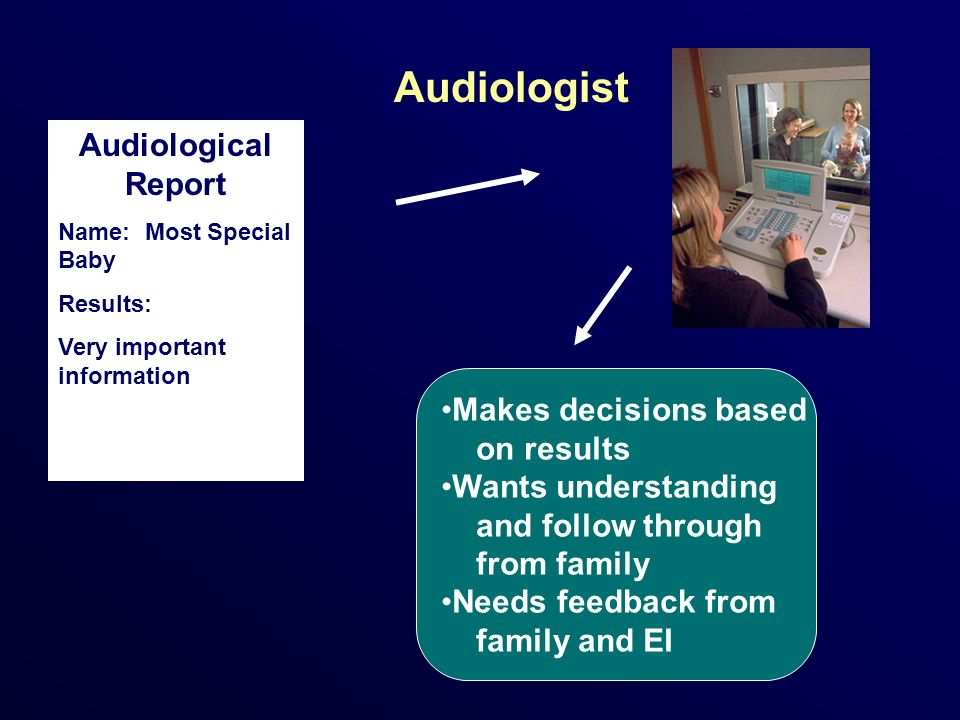 Medical Home Physician Audiological Report Name: Most special Baby Results: Very important information Makes medical decisions based on test results.