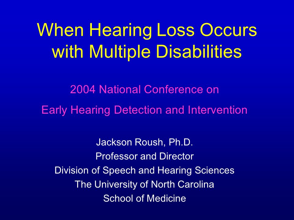 Goal of Diagnostic Assessment To obtain the info needed to proceed with hearing aid selection and fitting Approximation of HL degree and configuration Need accurate estimate of low and high frequencies Children with multiple disabilities tend to be later diagnosed and fitted Need to identify centers with the experience and institutional support to manage these children well