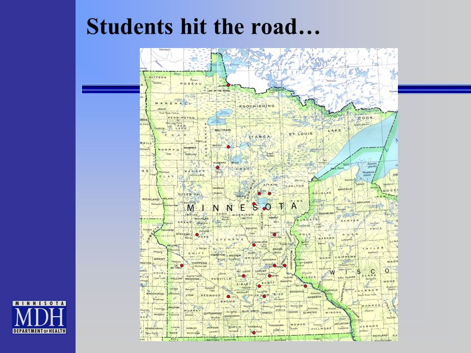 10 Students hit the road…