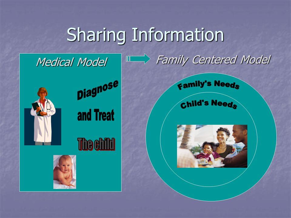 Sharing Information Medical Model Family Centered Model