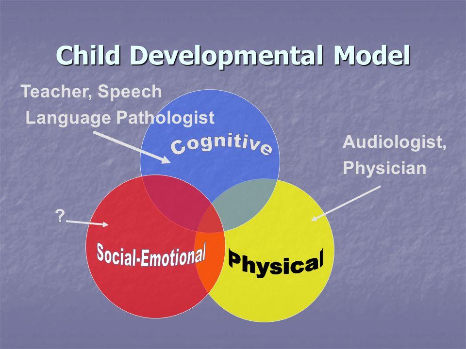 Child Developmental Model ? Audiologist, Physician Teacher, Speech Language Pathologist