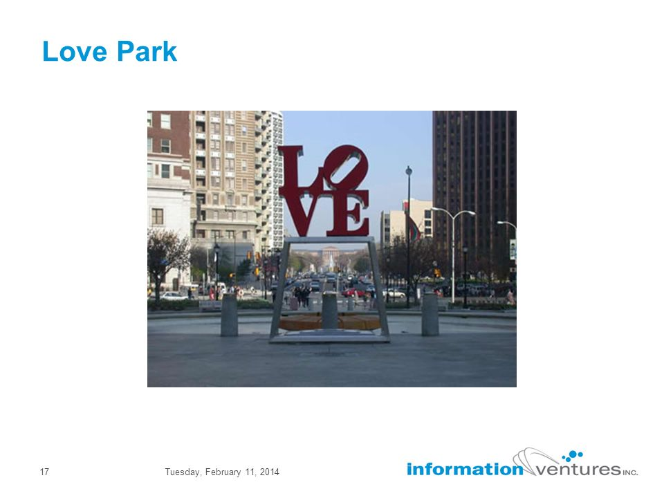 Tuesday, February 11, 201417 Love Park