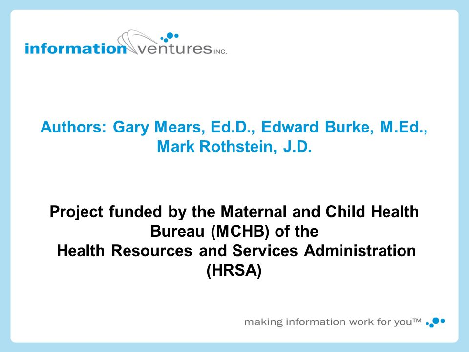 Authors: Gary Mears, Ed.D., Edward Burke, M.Ed., Mark Rothstein, J.D.