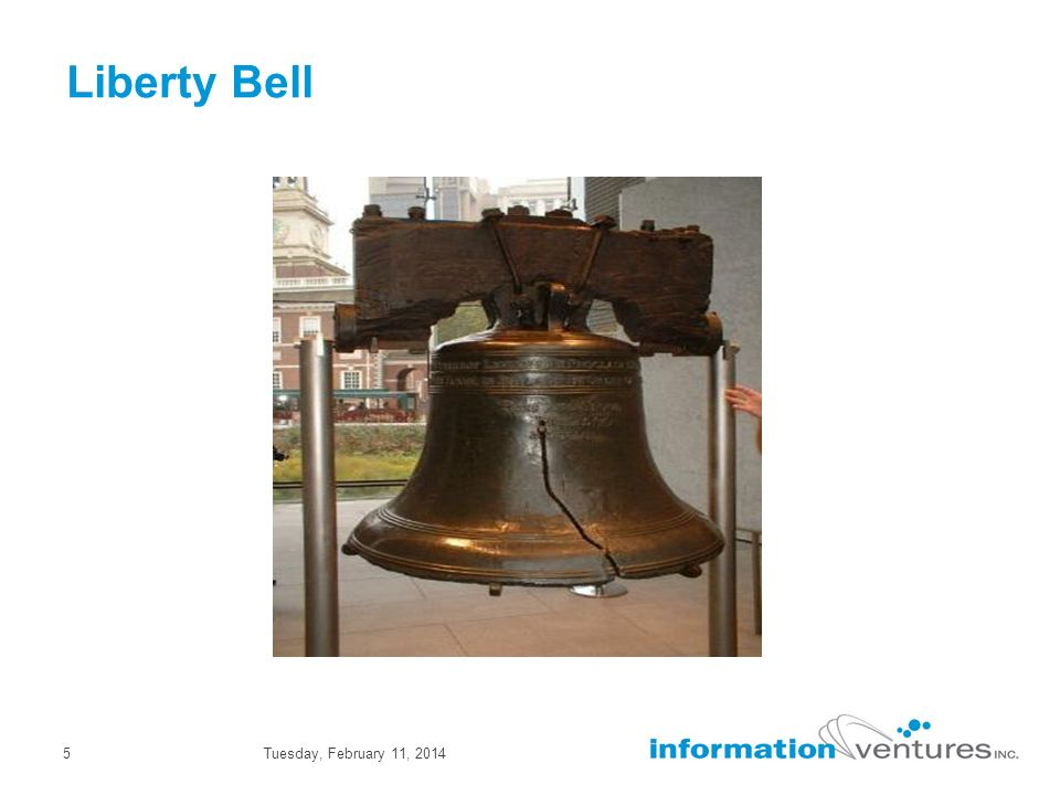 Tuesday, February 11, 20145 Liberty Bell