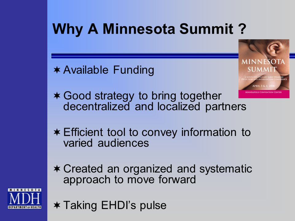 Why A Minnesota Summit .