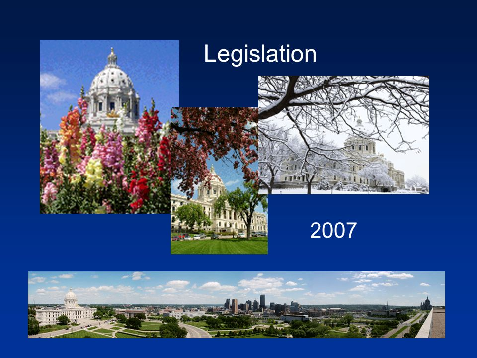Legislation 2007
