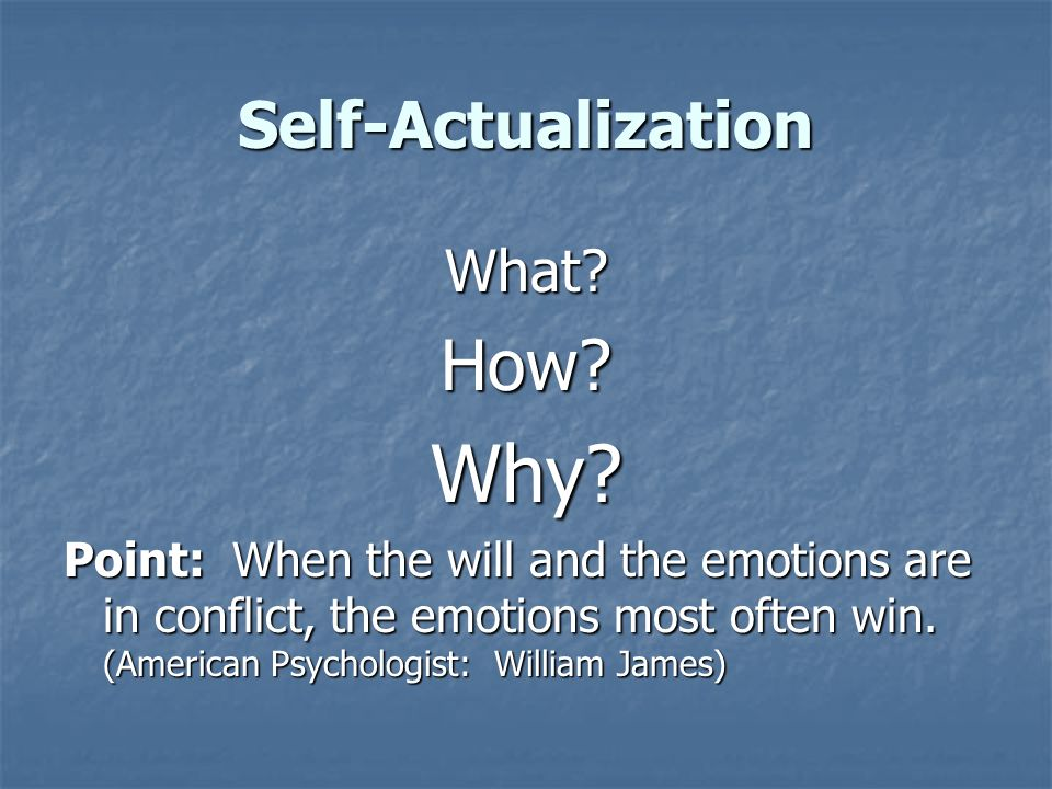 Self-Actualization What?How?Why.