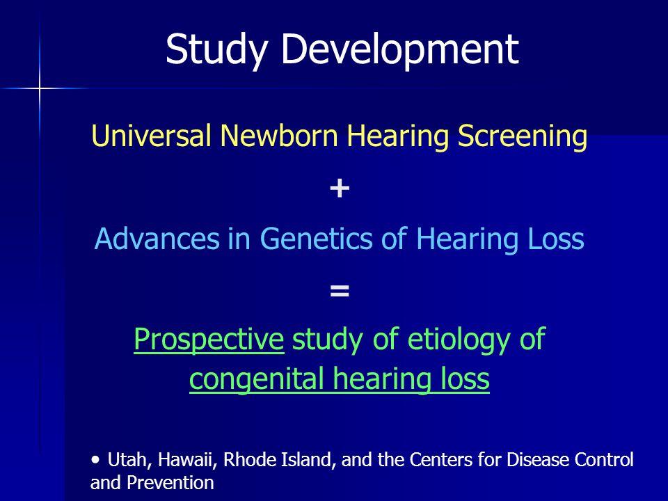 Summary 93 probands – –73 nonsyndromic 65 sensorineural hearing loss – –53 bilateral, sensorineural hearing loss 12 / 53 (23%) have GJB2 variant 5 / 53 (9.4%) 35 del G homozygotes or compound heterozygotes