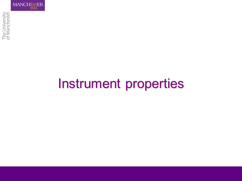 Instrument properties