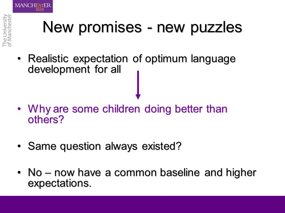 New promises – new puzzles Accurate detection not enough without quality interventionAccurate detection not enough without quality intervention Intervention revolution - quality and approachIntervention revolution - quality and approach So what works for which families in which circumstances?So what works for which families in which circumstances?