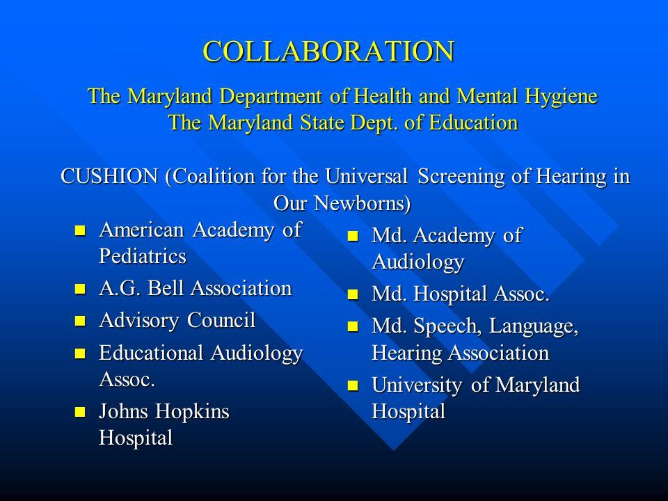 COLLABORATION American Academy of Pediatrics American Academy of Pediatrics A.G.
