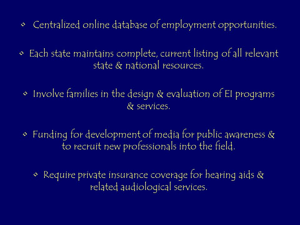 Centralized online database of employment opportunities.