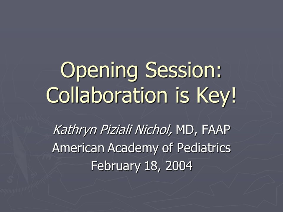 Opening Session: Collaboration is Key.