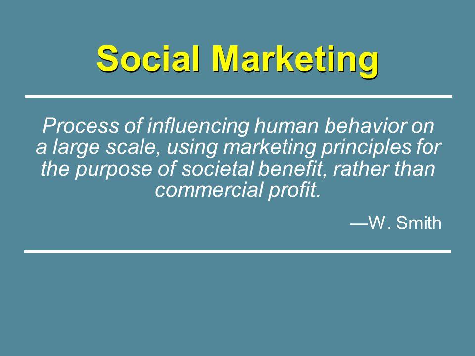 Selling Behavior Change Consumer Orientation Audience Segmentation Exchange Theory Marketing Mix