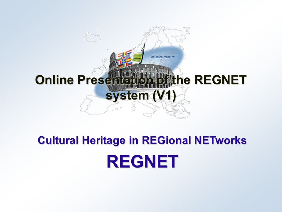 June 2002Project presentation REGNET 22