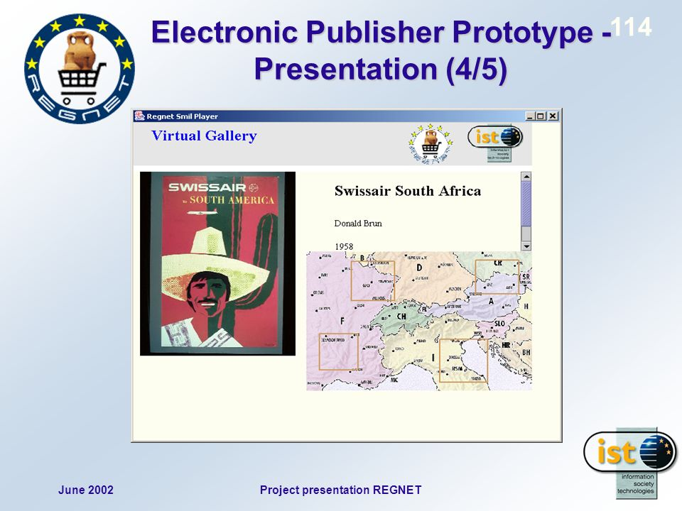 June 2002Project presentation REGNET 114 Electronic Publisher Prototype - Presentation (4/5)