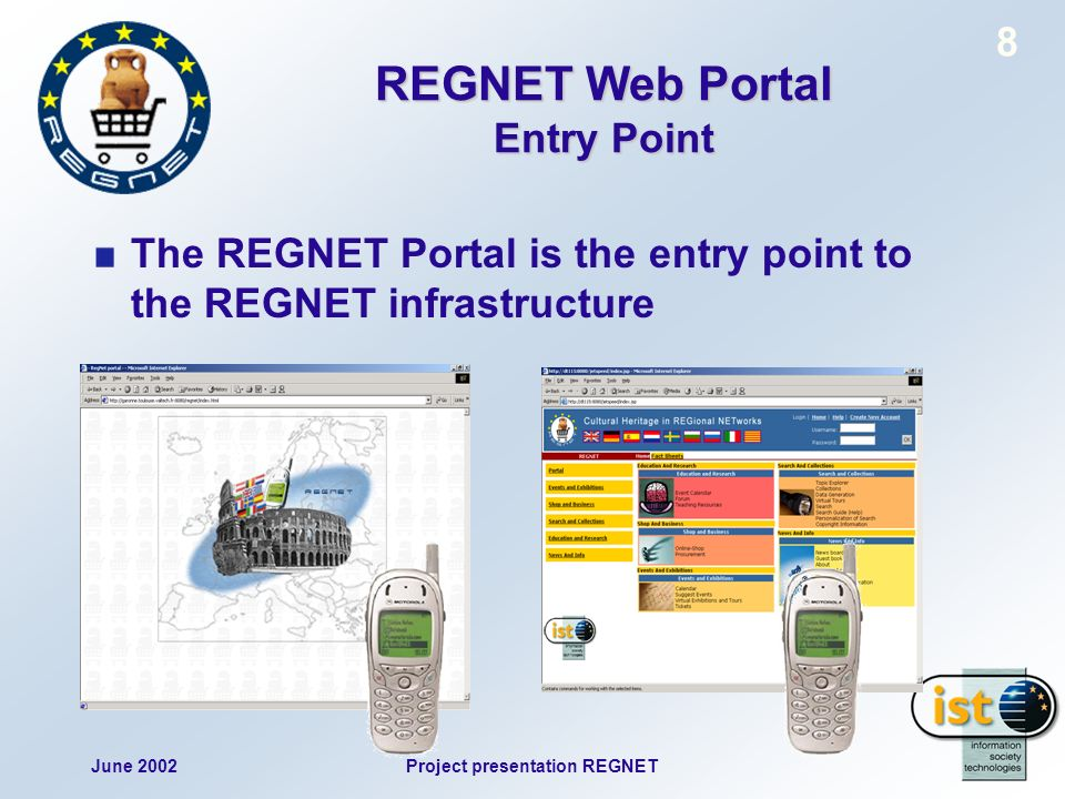 June 2002Project presentation REGNET 69 Registration
