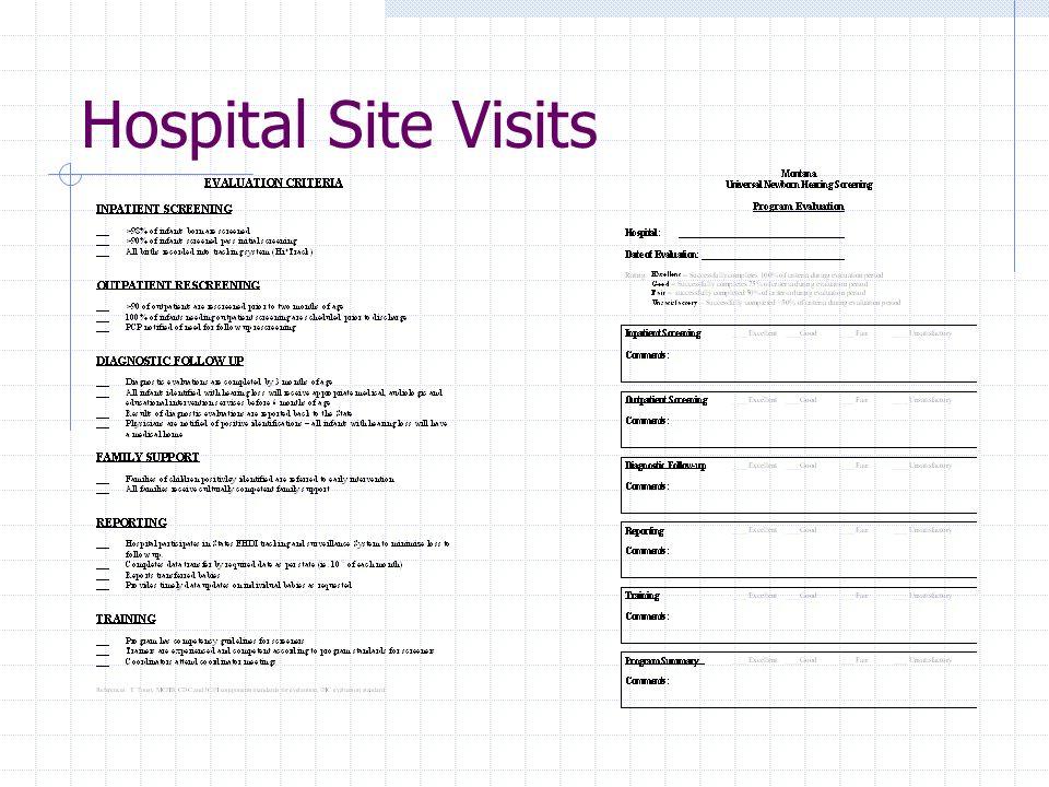 Hospital Site Visits