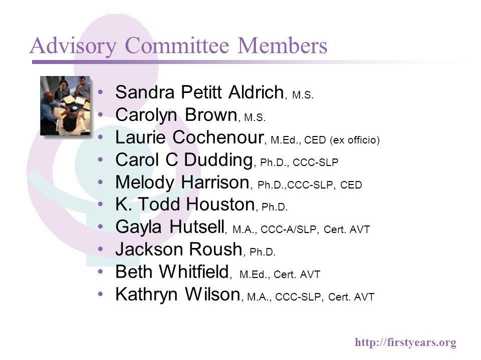 Advisory Committee Members Sandra Petitt Aldrich, M.S.