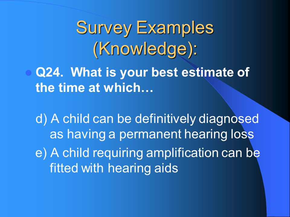 Survey Examples (Knowledge): Q24.