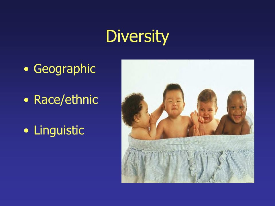 Diversity Geographic Race/ethnic Linguistic