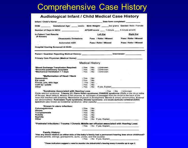 Comprehensive Case History