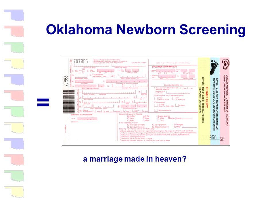 Oklahoma Newborn Screening + Newborn Hearing Screening Newborn Metabolic Screening