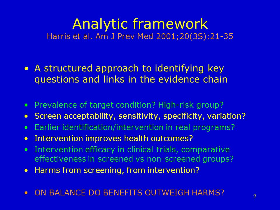 7 Analytic framework Harris et al.