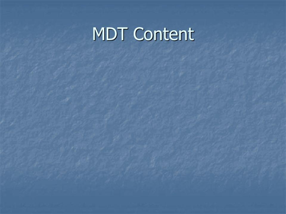 MDT Content
