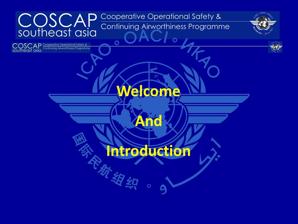 Welcome And Introduction