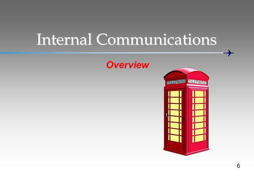 Internal Communications 6 Overview