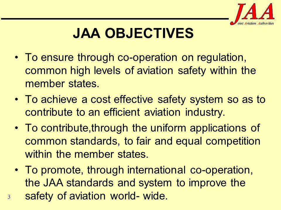 14 ointAviationAuthorities Maintenance Committee Industry Representation (1) AEA:Association European Airlines EURACA:European Air Carrier Association AECMA:Association Europeenne des Constructeurs de Materiel Aerospatial.