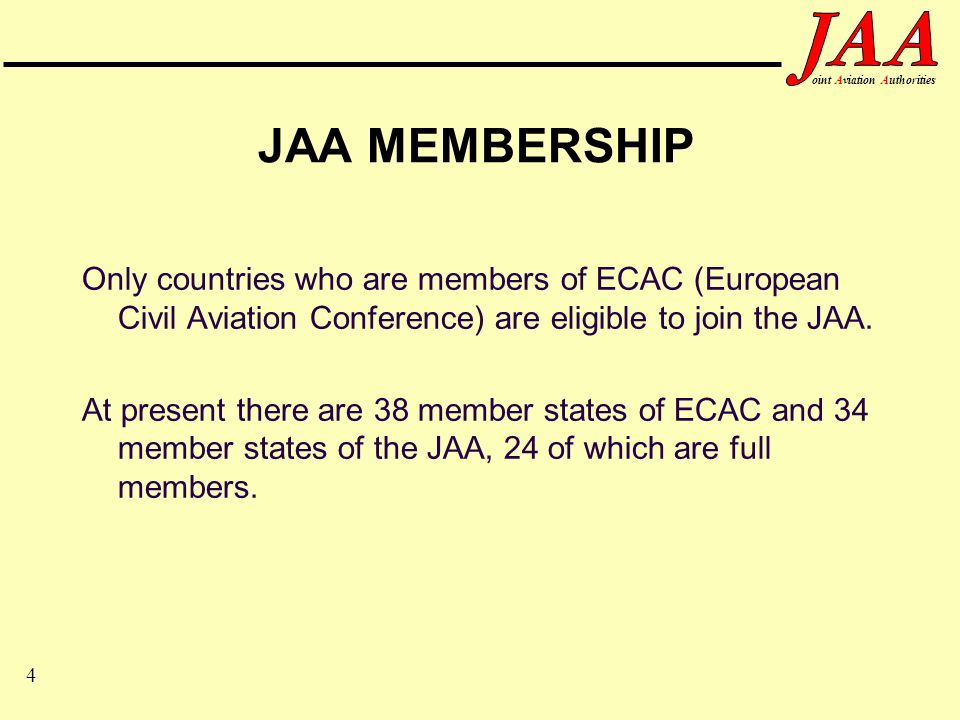 25 ointAviationAuthorities JAR-66 The JAR-66 aircraft maintenance licence alone does not permit the holder to release to service an aircraft used for commercial air transport It in addition requires the JAR-145 organisation to issue a JAR-145 certification authorisation to permit release of such aircraft on behalf of the JAR-145 organisation